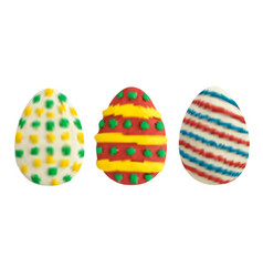 Set of easter eggs isolated on white vector