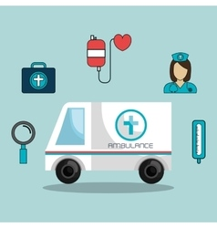 Set online services medical isolated vector