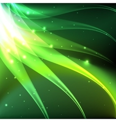 Shiny green abstract background vector image
