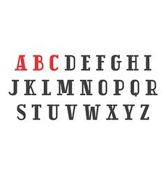 Slab serif font in retro style vector
