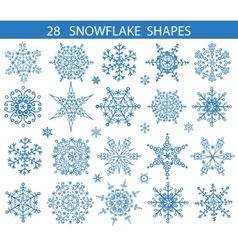 Snowflakes icon shapes collectionChristmas decor vector image vector image