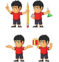 Soccer boy customizable mascot 8 vector