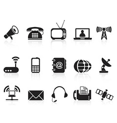 telecommunication icons vector image vector image