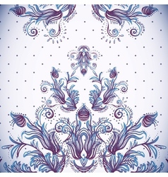 Vintage background baroque pattern vector image