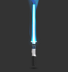 With futuristic sword vector