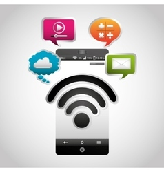 Wifi connection signal icons vector