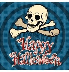 Happy halloween skull and bones vector