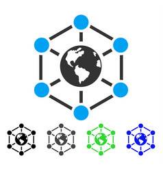 Worldwide internet flat icon vector