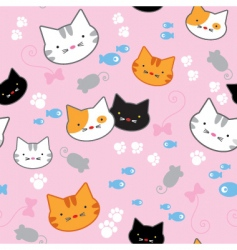 Kitten pattern vector