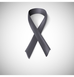 Black ribbon loop vector