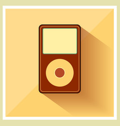 Music media mp3 player retro icon vector