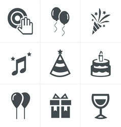 Party icons set design vector
