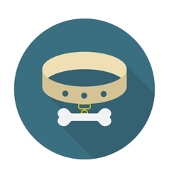 Collar whit bone vector