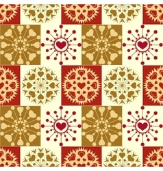 Christmas seamless pattern vintage snowflakes vector