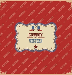 Western label background western with text vector