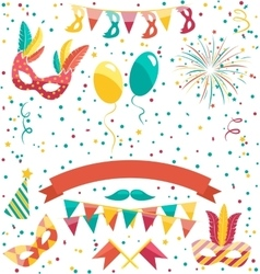 Set collection of festive colorful carnival vector
