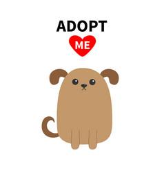 Adopt me dont buy dog face pet adoption puppy vector
