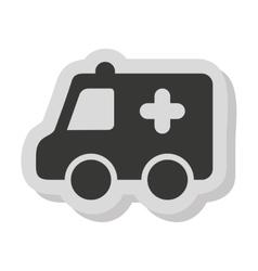 Ambulance car vehicle isolated icon vector