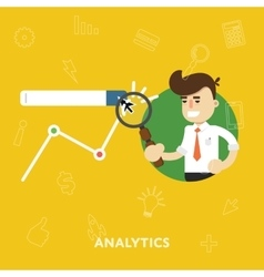 Analysis business results of concept research vector