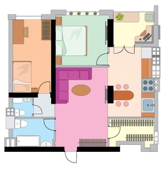 apartment drawing vector image vector image