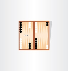 Backgammon tournament icon design vector