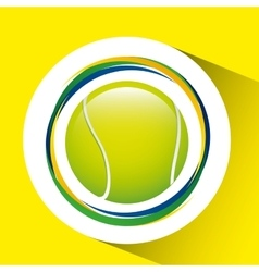 Ball tennis olympic games brazilian flag colors vector