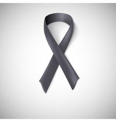 Black ribbon loop vector image