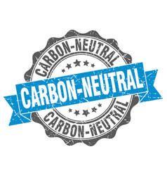 Carbon-neutral stamp sign seal vector