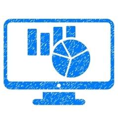 Charts monitoring grainy texture icon vector