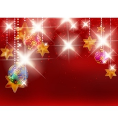 Christmas background with baubles vector image vector image