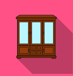 Classical cupboard icon in flat style isolated on vector