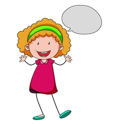 Girl speaking vector image vector image