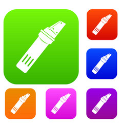 glass cutter set color collection vector image vector image