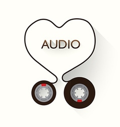 I Love Audio vector image vector image