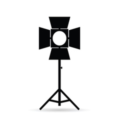 lighting for old camera in black vector image vector image
