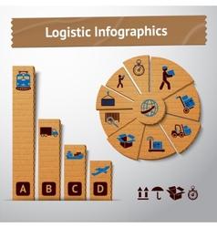 Logistic paper infographics vector