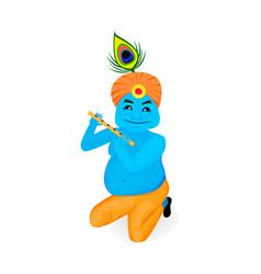 lord krishana in cartoon vector image