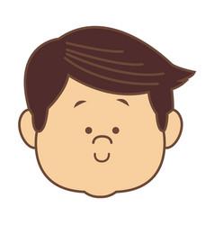 man character head face smiling cartoon vector image vector image