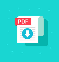 pdf download icon symbol flat text vector image vector image