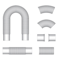 Plumbing corrugated flexible tubes vector