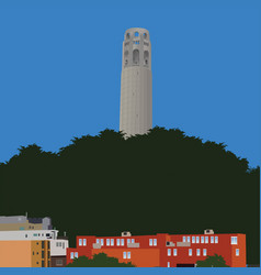 San francisco coit tower vector