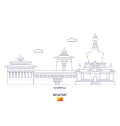 Thimphu city skyline vector