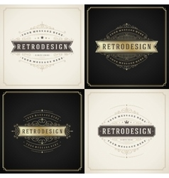 Vintage ornament golden and grunge style border vector