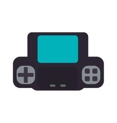 Control pixel video game play icon graphic vector