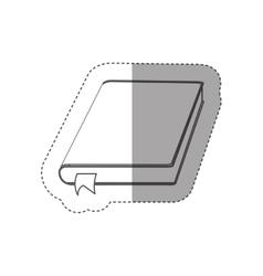 Blank book isolated vector