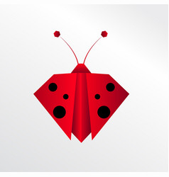 origami ladybug vector image