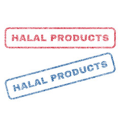 halal products textile stamps vector image