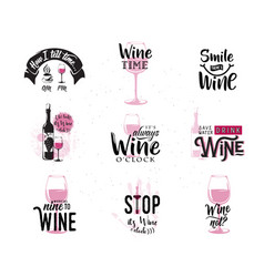 drink wine related vector image
