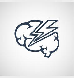 Brain disease logo icon design vector
