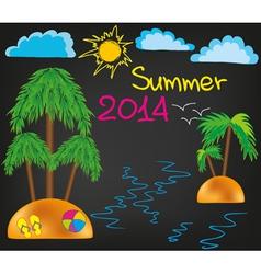 Summer 2014 vector image